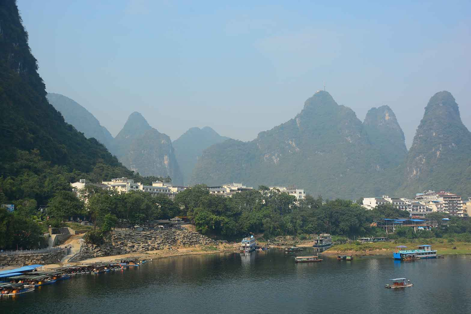 The banks of the Yulong River