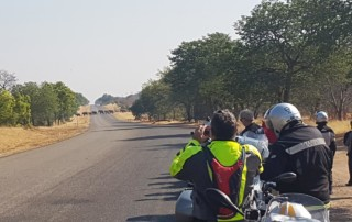 African Call of the Wild Motorcycle Tour 2016, Elephant road crossing
