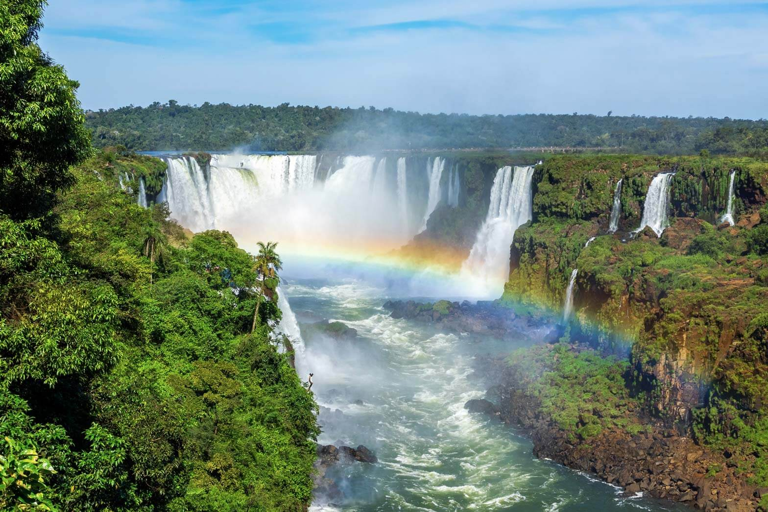 Iguassu waterfalls, view on the Brazilian side