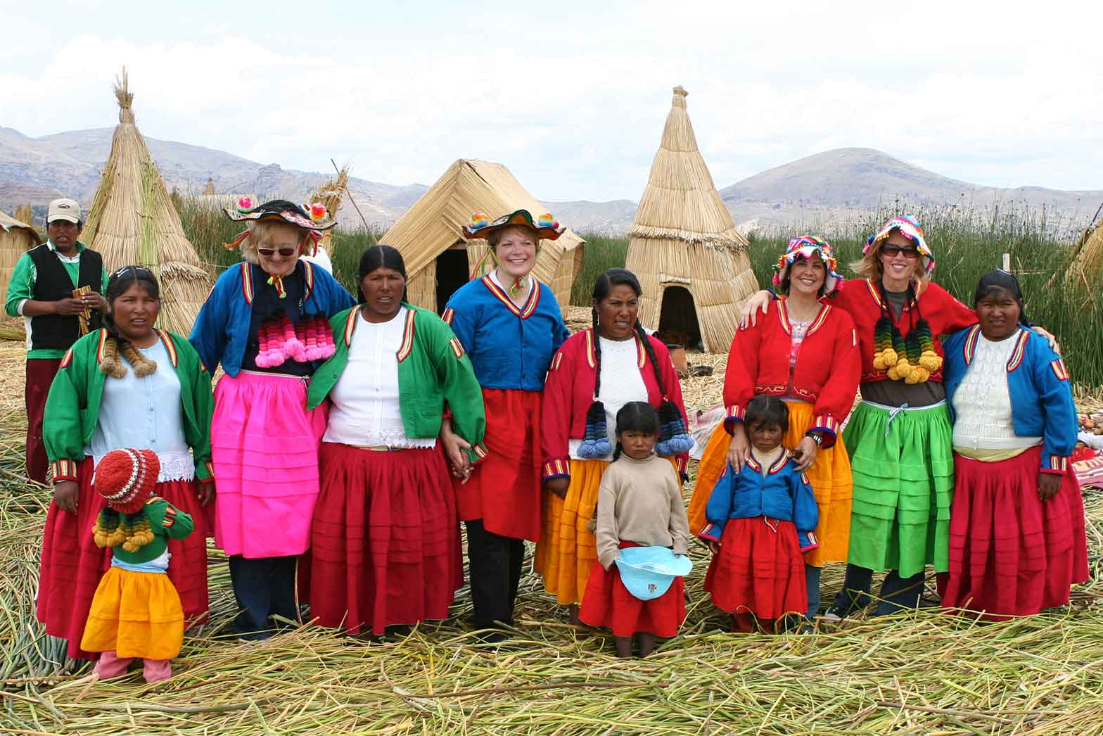 Lake Titicaca Ladies Group Shot