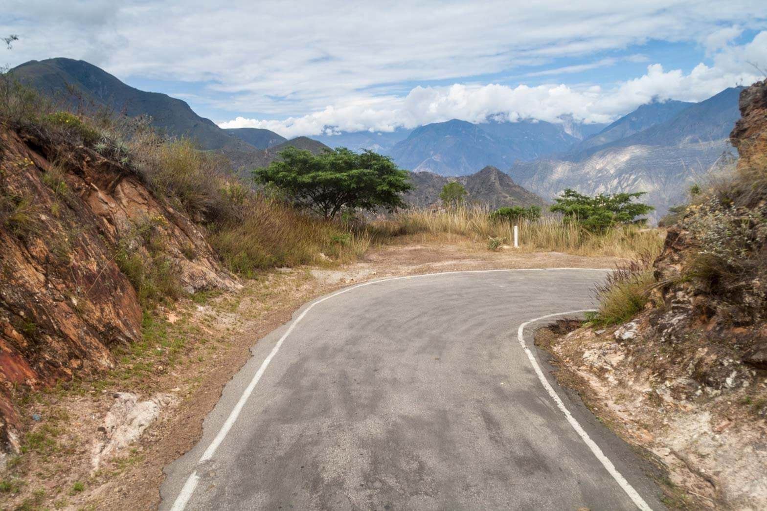 Mountain road in the Cajamarca region, Peru