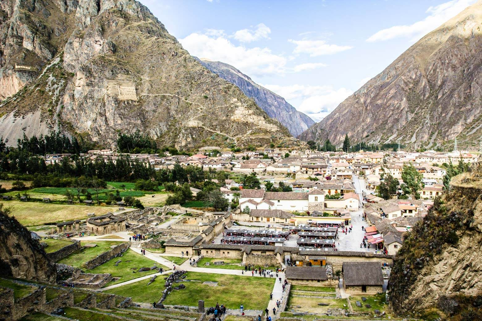 Ollantaytambo, an old Inca-fortress the-Andes, Peru