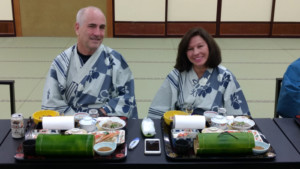 Bernard and Rhoda on Japan Cherry Blossoms Motorcycle Tour in Japan, Ayres Adventures