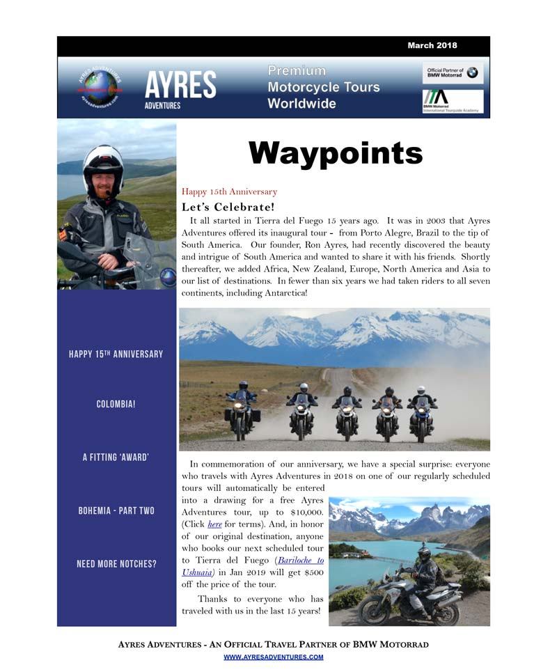 Waypoints March 2018