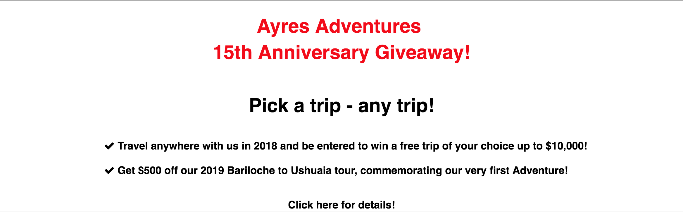 15th Anniversary Award by Ayres Adventures Motorcycle Tours Worldwide