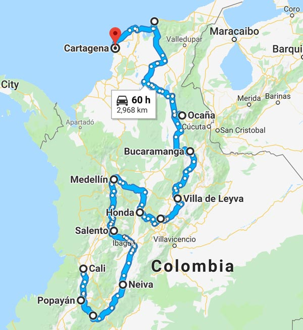 Colombia Motorcycle Tour 2018 Ayres Adventures