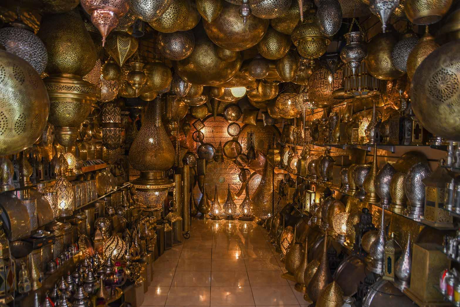Handmade brass lampshades