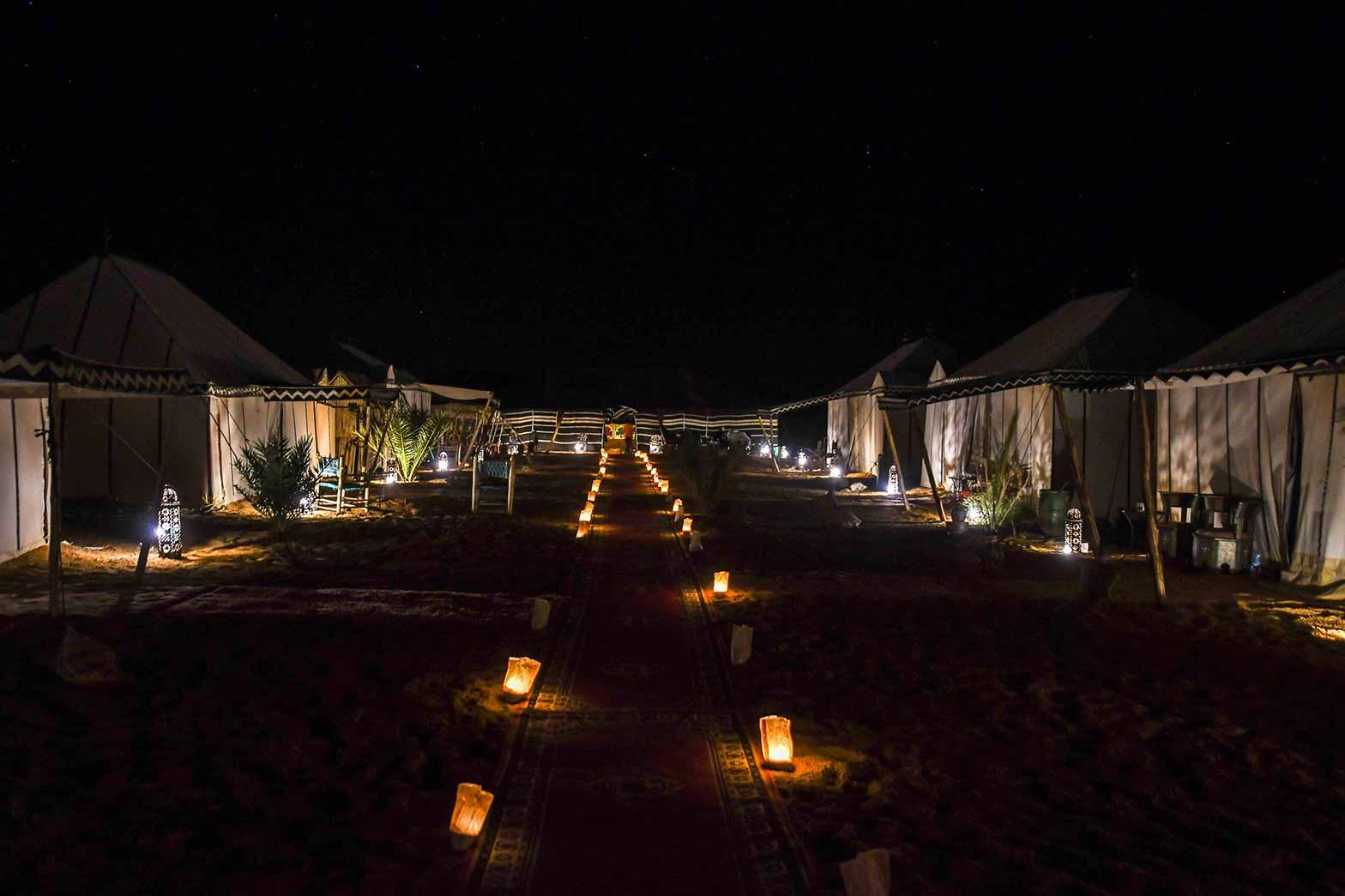 Luxury camping in the Sahara desert