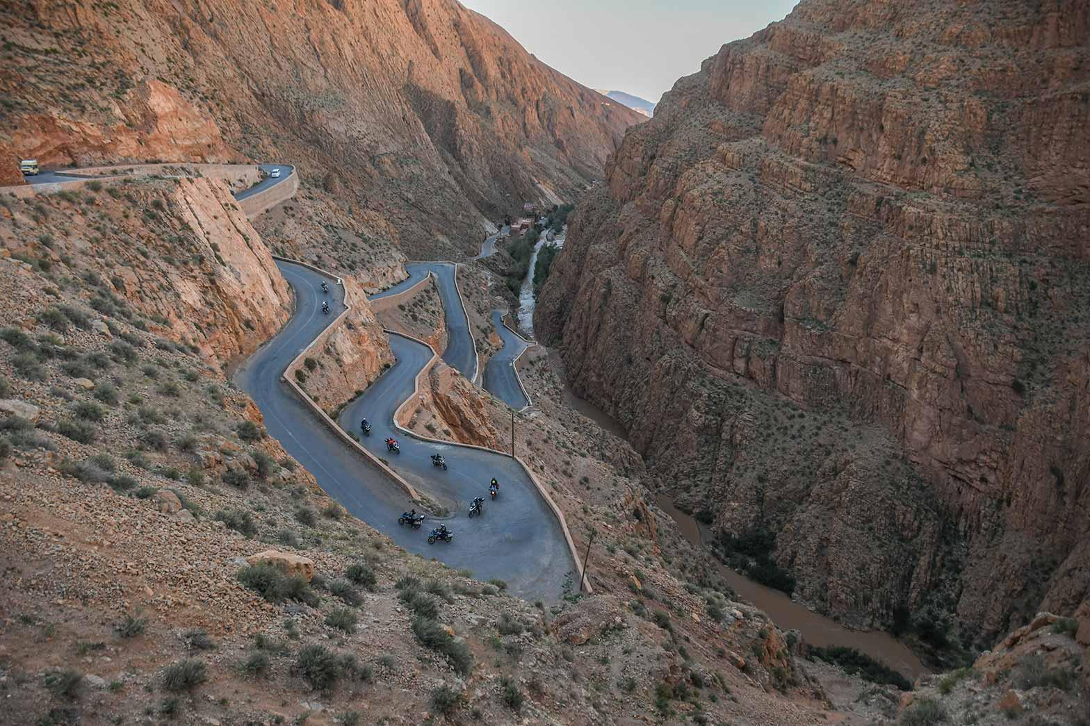 Riding Todra Canyon