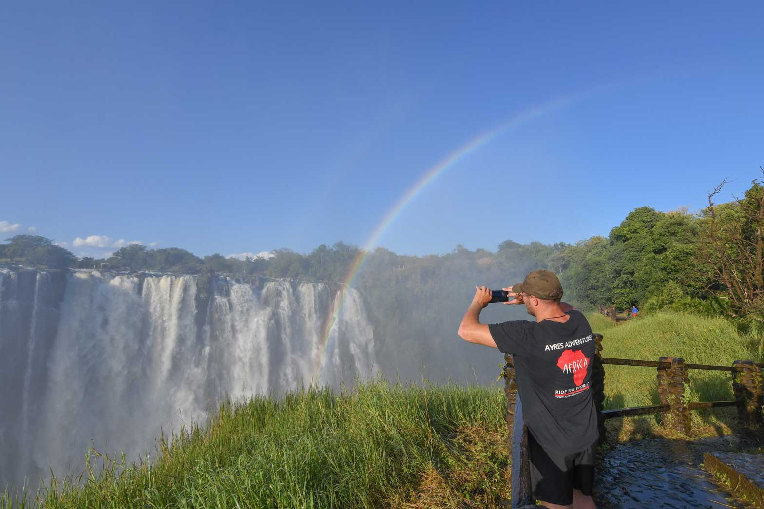 Taking a picture of Victoria Falls