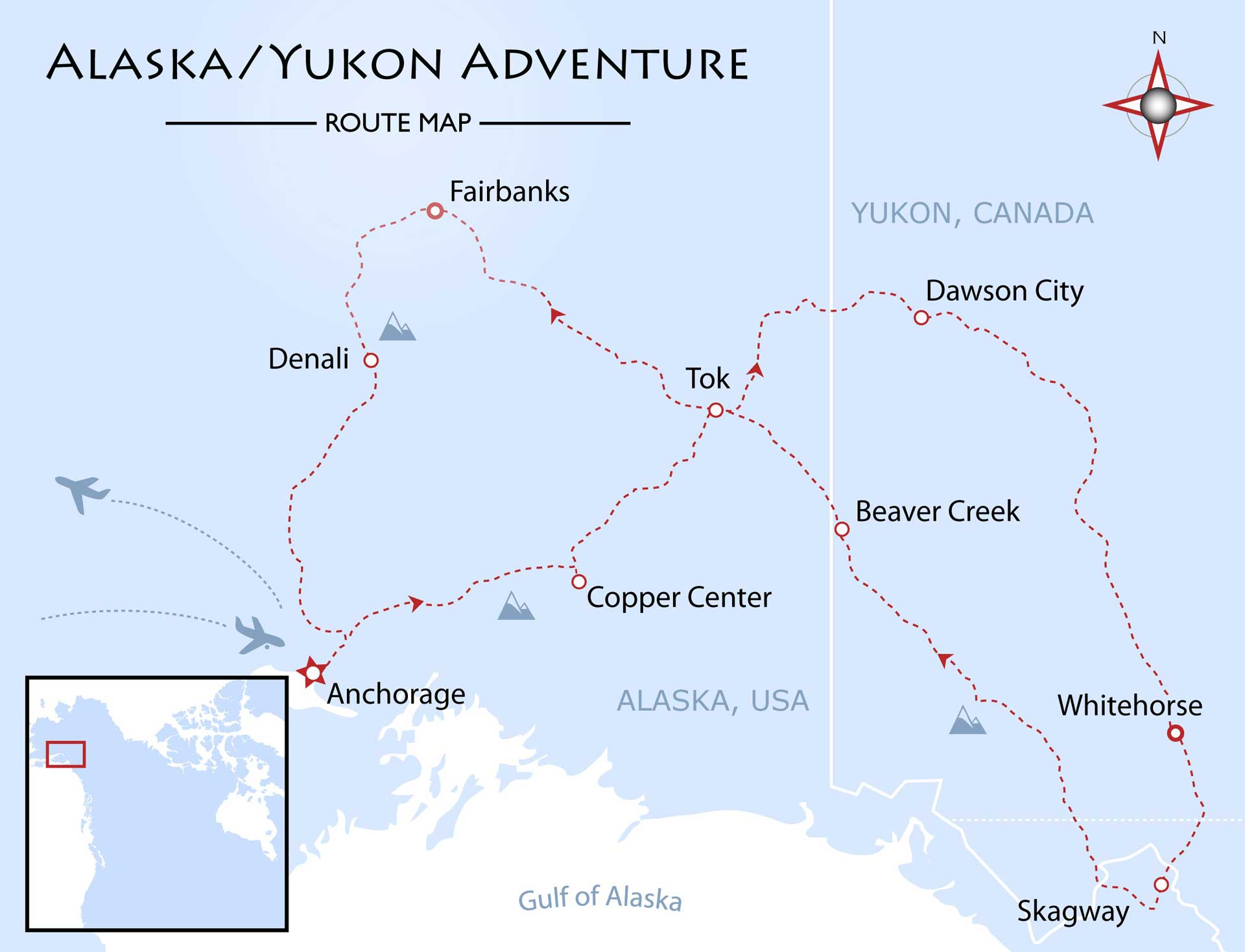 Alaska/Yukon Adventure Map