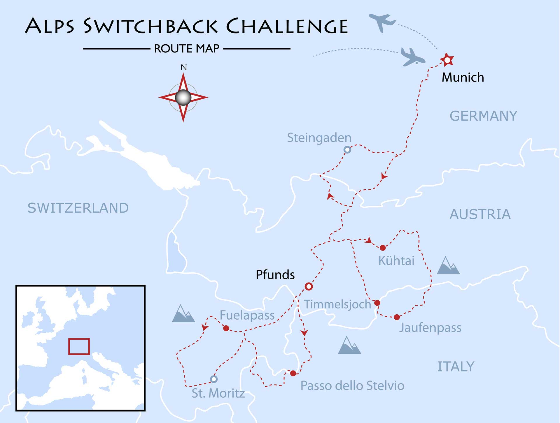 Alps Switchback Challenge Map