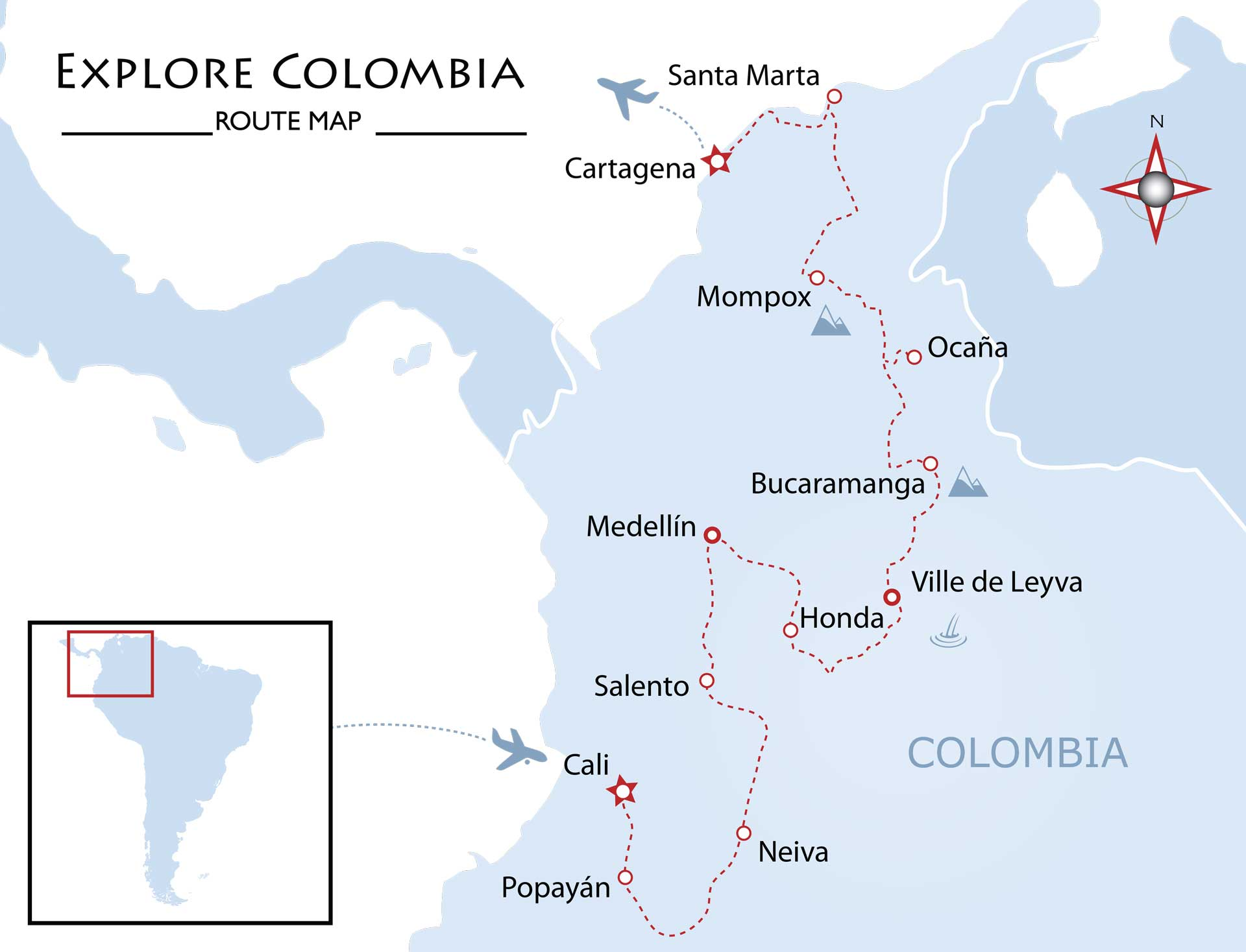 Explore Colombia Map
