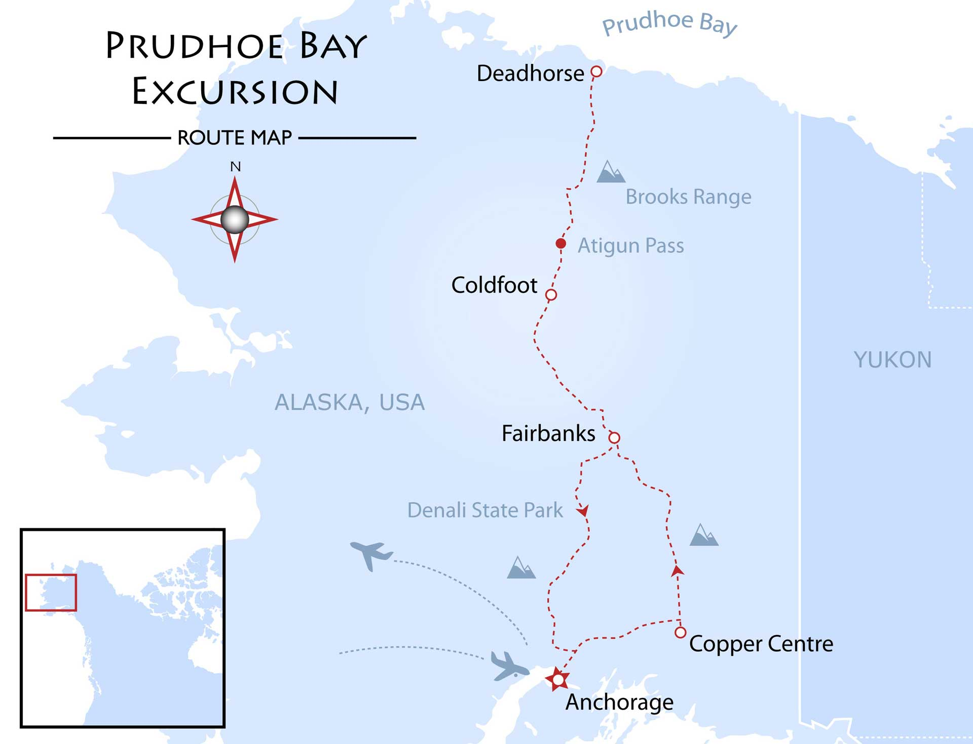 Prudhoe Bay Excursion Map