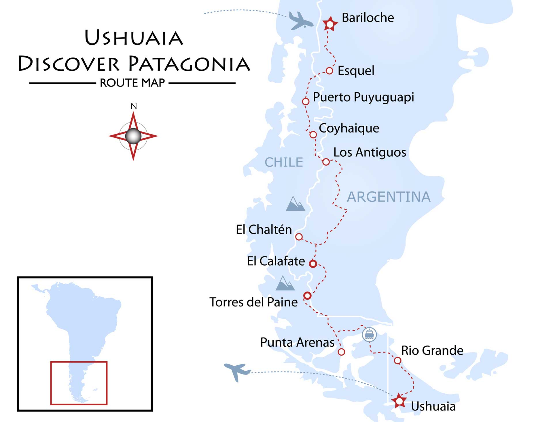 Ushuaia - Discover Patagonia Map