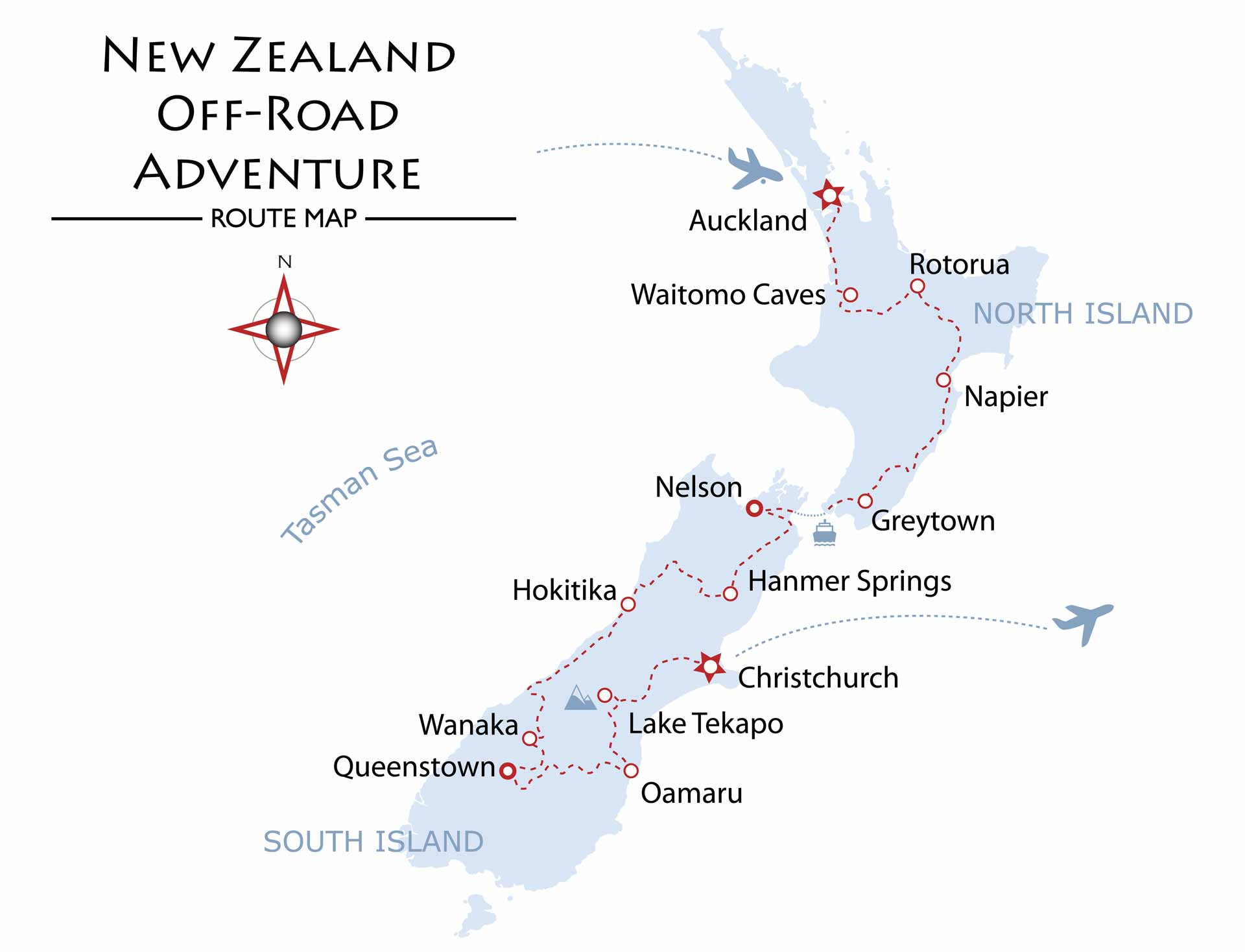 New Zealand Off-Road Adventure Map