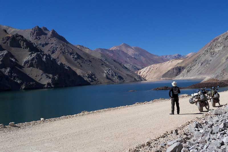 Lake on the Agua Negra Pass