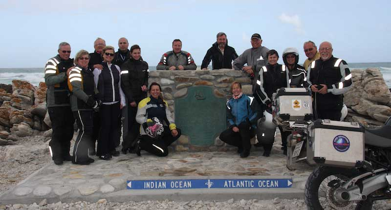 Rider Magazine Group At Cape L'Agulhas, South Africa