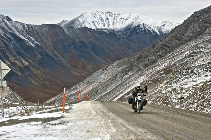 Riding the Atigun Pass